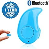 captcha S530 Plastic and Metal Mini Style Wireless Bluetooth Headset Support All Smartphones (Blue.Kaju_1)