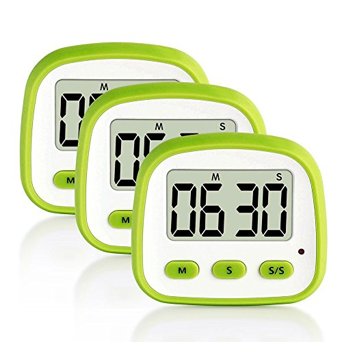 Rokoo Digitaler Küchentimer mit großem Display Lauter Alarm für Backsport