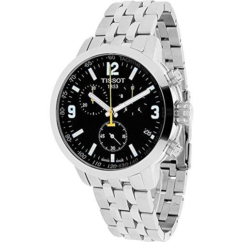 Tissot Herren-Armbanduhr 42mm Armband Edelstahl + Gehäuse Quarz T0554171105700