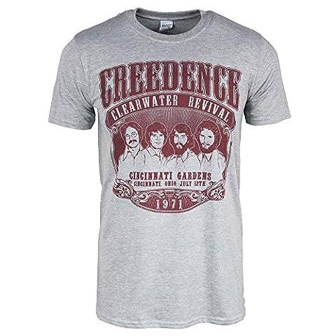 Pour des hommes Creedence Clearwater Revival 1971 T-shirt Bruyère gris