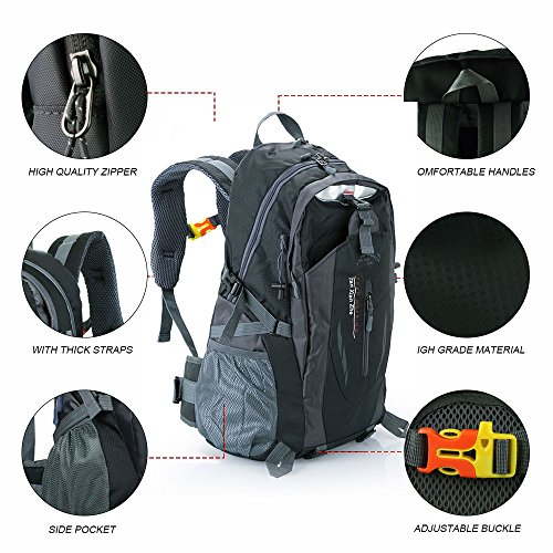 OGORI 40L Waterproof Outdoor Sports Backpack Travel Hiking Camping Rucksack Bike Bag
