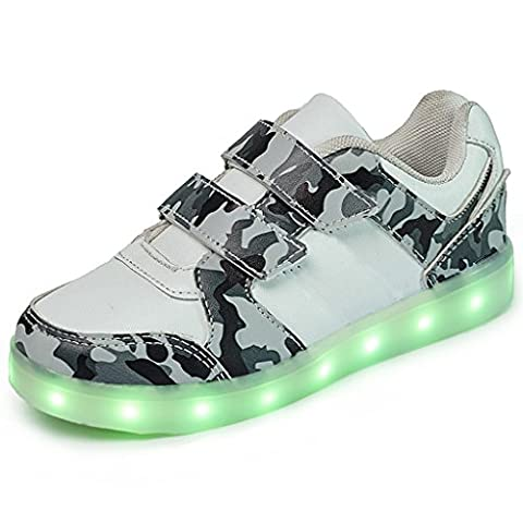 DoGeek LED Lights Luminous Shoes Unisex Trainers Casual Sneaker -7 colors USB Charger