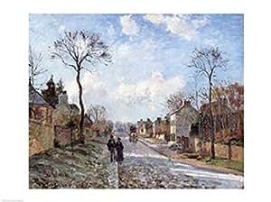 Camille Pissarro – La route à Louveciennes Impression d'art Print (60,96 x 45,72 cm)