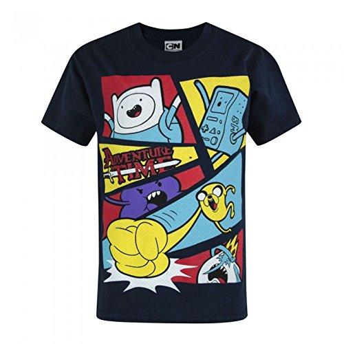 Adventure Time - T-shirt à manches courtes - Garçon (12-13 ans) (Bleu marine foncé)