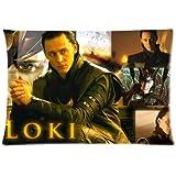 1 X Custom Tom Hiddleston The Avengers Loki Laufeyson Pillowcase Standard Size: 20*30 Inch(Approximate 50*76 cm) Design Cotton Pillow Case