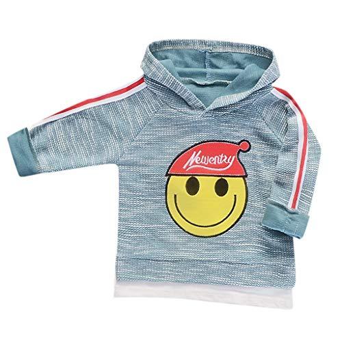Dasongff Kinder Hoodie Smiley Drucken Pullover mit Kapuze Casual Sweater Sweatshirt Patchwork Kapuzenpullover Hemd Shirts12M-5Y -