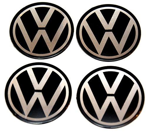 4x 55mm adesivi per centro ruota Set VW Volkswagen, copri logo, diametro: 55mm