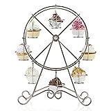 SODIAL(R) Einzigartig 8-Tasse Edelstahl?Rotierend Riesenrad Cupcake Staender Becherhalter - 7