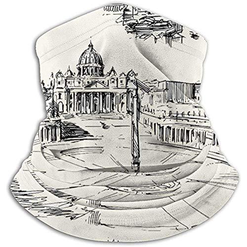 Benson Masefield Viaggia in Tutto Il Mondo Temi storici Italiani a Tema Venezia Roma Firenze Pisa Ghette in Pile Collo Fascia per Capelli Masch