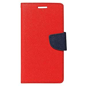 Sidea synthetic leather Wallet Magnet Design Flip Case Cover For Redmi Note-Red/Blue
