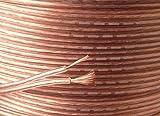 10m de câble de haut-parleur Transparent 2x 20AWG cuivre conducteur–Idéal pour maison ou voiture Audio–Dimensions extérieures du câble: 5mm par 1,5mm–Superbe Valeur pour Argent