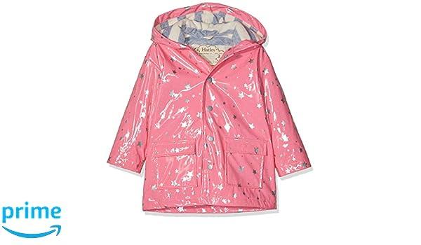 Hatley Girls Printed Raincoats Pink Metallic Hearts 650 Years Size:10