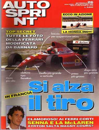 Autosprint Auto Sprint 26 del Giugno 1993 Senna Barnard Regazzoni