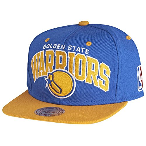 Mitchell & Ness Herren Caps / Snapback Cap Golden State Warriors Team Arch blau Verstellbar Arch Logo Cap