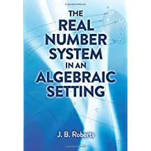 The Real Number System in an Algebraic Setting