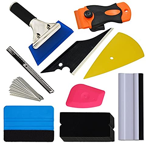 Ehdis® New Arrival Plus! 9 Kinds Vehicle Glass Protective Film Car Window Wrapping Tint Vinyl Installing Tool: Squeegees, Scrapers, Film Cutters,