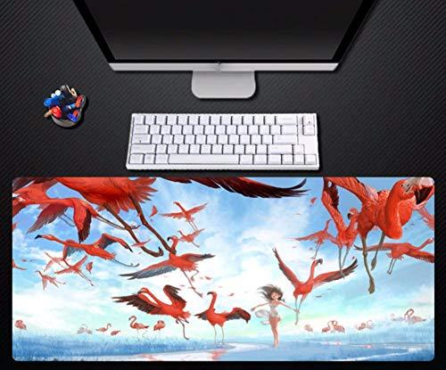 Große größe mauspad blauen himmel flamingo muster mauspad hohe qualität rutschfeste durable pad spiel maschine tastatur mauspad große 80 * 40 cm -