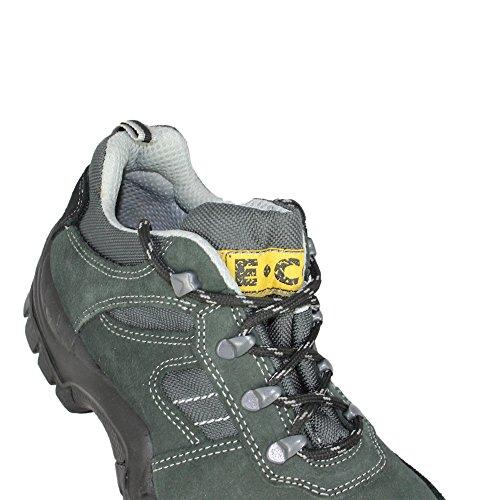 ECJ Rey S1P SRC Trekkingschuhe Sicherheitsschuhe flach Grün Grün