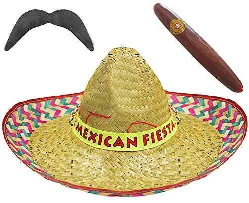 Set di 12 cappelli a sombrero messicani c955798213ac