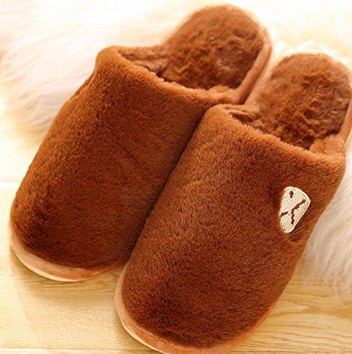 Pantoufles en coton pour l'hiver ( couleur : # 1 , taille : 40-41 ) #7