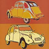 Toile sur Chassis: Rod Neer, 'Citroen 2CV squared', 50 x 50