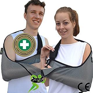 ARMSCHLINGE, extratief, Schulter Sling Unterstützung, simple-fit, easy-sizing 12Jahre bis große Erwachsene. Luxuriös Soft-Stretch cool-airflow. Wende R oder L Ausrichtung, Unisex.