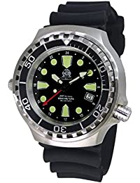 tauchme ister Reloj con Swiss Ronda 24horas GMT de cristal de zafiro t0299