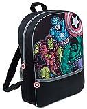 Marvel Comics Avengers Mochila Grande Escuela, Viaje, Mochila Negra para niños y niñas Adultos, Avengers Comic (Azul) - LBAMZMPN1168