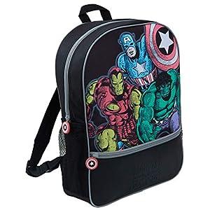 51u1bxvgFxL. SS300  - Marvel Comics Avengers Mochila grande de lujo para la escuela, viaje, mochila negra para niños y niñas adultos, Avengers Comic (Azul) - LBAMZMPN1168