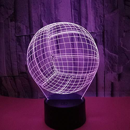 Kreative Volleyball 3d Nachtlampe Kind Spielzeug 3d Leuchten Hersteller Großhandel Led Nachtlicht
