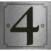 eCobbler plateado pegar en la puerta número 0A 9–número 4