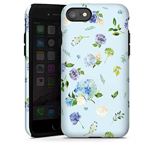 Apple iPhone X Silikon Hülle Case Schutzhülle Blumen Muster Sommer Tough Case glänzend