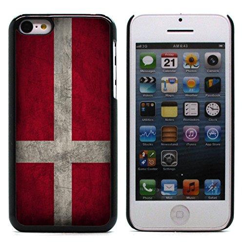 Graphic4You Vintage Uralt Flagge Von Portugal Portugiesisch Design Harte Hülle Case Tasche Schutzhülle für Apple iPhone 5C Dänemark Dänisch