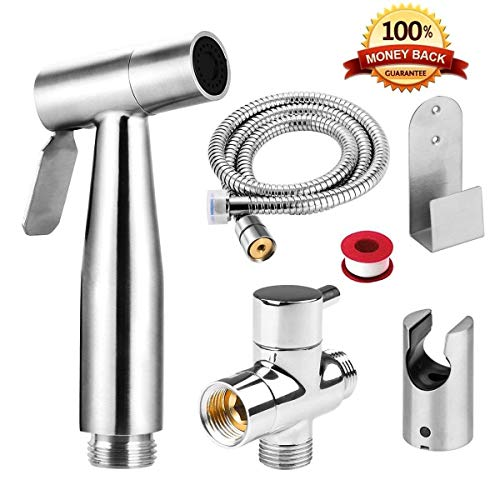 Free Of Punch Shower Portable Bidet Water Sprayer Gun Stainless Steel Toilet Bidet Tap Set Mixer Bidet Head Bidet Faucets High Resilience Home Improvement