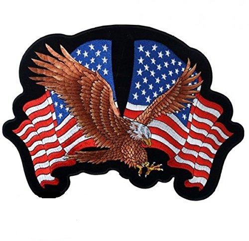Aufnäher zum Aufbügeln, Motiv: Adler / Flagge der USA