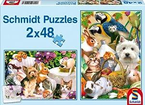 Schmidt Spiele  - Amistad Animal, Rompecabezas Rompecabezas Pedazo 2x48