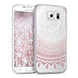 kwmobile Samsung Galaxy S6 / S6 Duos Hülle - Handyhülle für Samsung Galaxy S6 / S6 Duos - Handy Case in Rosa Weiß Transparent
