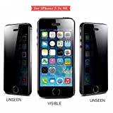 Apple iPhone 5/5S/SE Anti Spy Privacy Screen Guard Tempered Glass | Full Screen Size - 4.0' | 3D Edge Anti Spy | Colour: Black