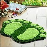 HuaYang 60 x 40 cm Nette große Füße Badezimmer-saugfähige Matten-Tür-Matten-Fuß-Drucken-Fußboden-Wolldecke.