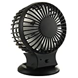 BestFire Upgraded Portable Rechargeable Electric Personal Fans USB Powered 2-modes Speed Adjustable Double