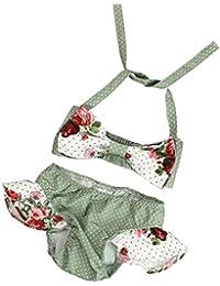 Ropa de baño,Switchali Niños Recién nacido Bebé Niña verano Top chaqueta Bragas floral moda Trajes de baño Niñas Bowknot Traje de baño bikini superior + Briefs Bañador