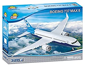 COBI- Boeing 737 8 MAX Avión, Color Blanco Azul (26175)