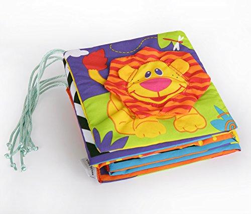 HLC Spielzeug Babybuch erstes Entdeckungsbuch Stoffbuch für Kinderwagen