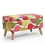 Sofa stool d Fußhocker mit Holzunterstützung, gepolstert, Hocker, Stoffbezug, 4 Beine, Abnehmbarer Stoffbezug, 40 x 40 x 42 cm, Holz, 1, 77 * 40 * 40cm