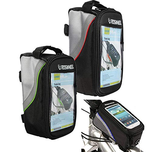 K8U146 @FATO Roswheel Bike Bicycle Pannier Frame Cycling Front Tube Bag for iPhone 6 6S Samsung Cell Phone -