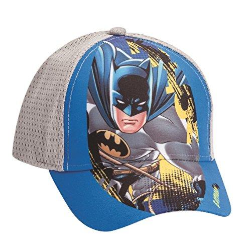 Official Licensed Batman Boys Blue & Grey Hat - Licensed DC Comics Merchandise