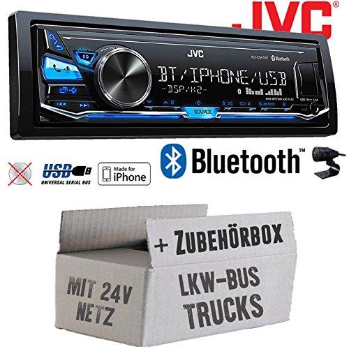 LKW Bus Truck 24V 24 Volt - JVC KD-X341BT - Bluetooth | MP3 | USB | Android | iPhone Autoradio - Einbauset