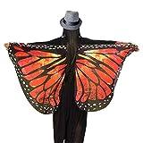 Culater Alas de Mariposa Volando Hada Accesorio Traje Duendecillo Señoras 147*70CM (Rojo)