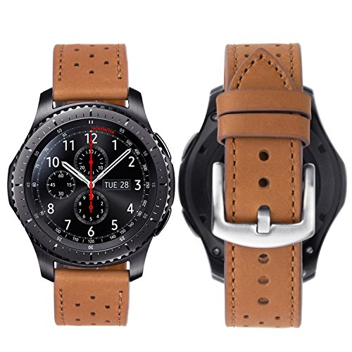 7aeb3b7e84bc iBazal 22mm Correa Cuero para Samsung Galaxy Watch 46mm