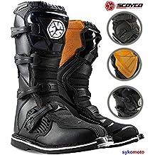 690f981ba Motocross Botas SCOYCO MBM001 Hombre Off Road Protector Enduro ATV Quad  Carreras Kart Zapatos Negro Exclusivo
